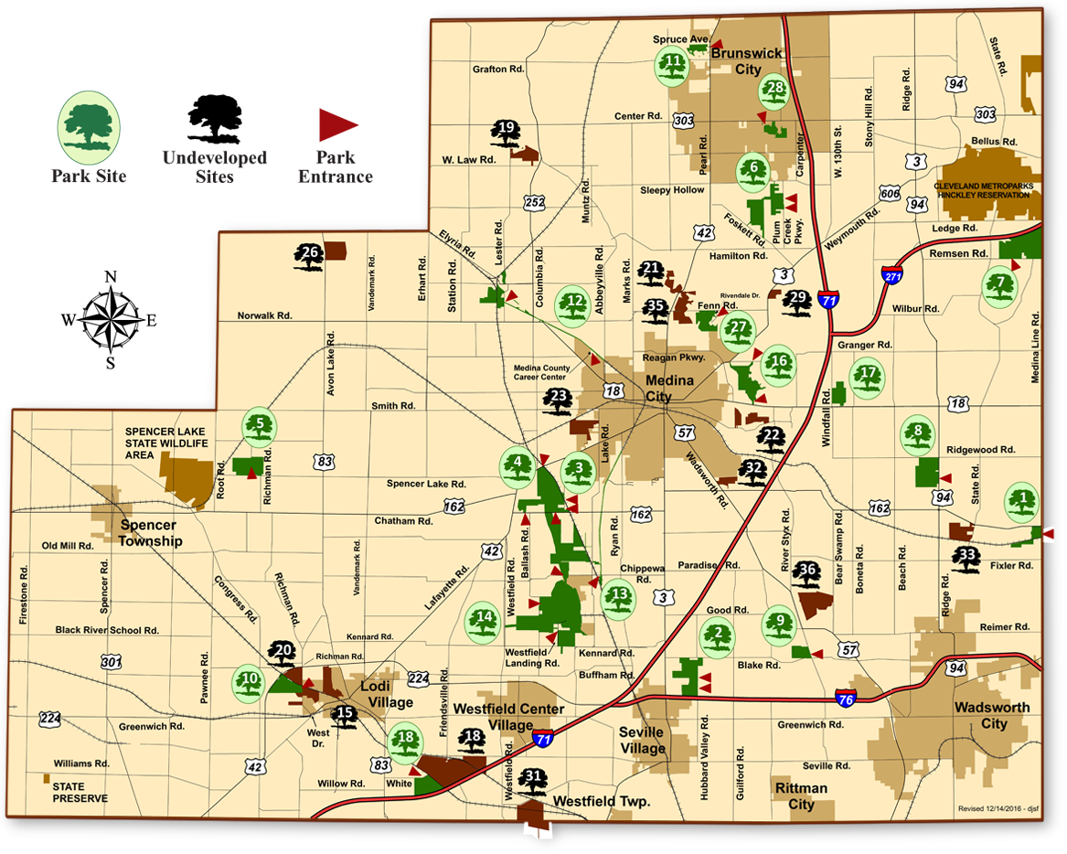 Medina County Parks Map